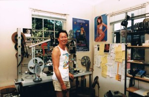 Myself in front of my editing bench at 20th Century Fox.