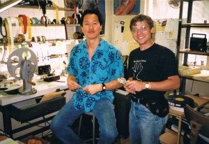 Another picture of me and Ron at my bench.